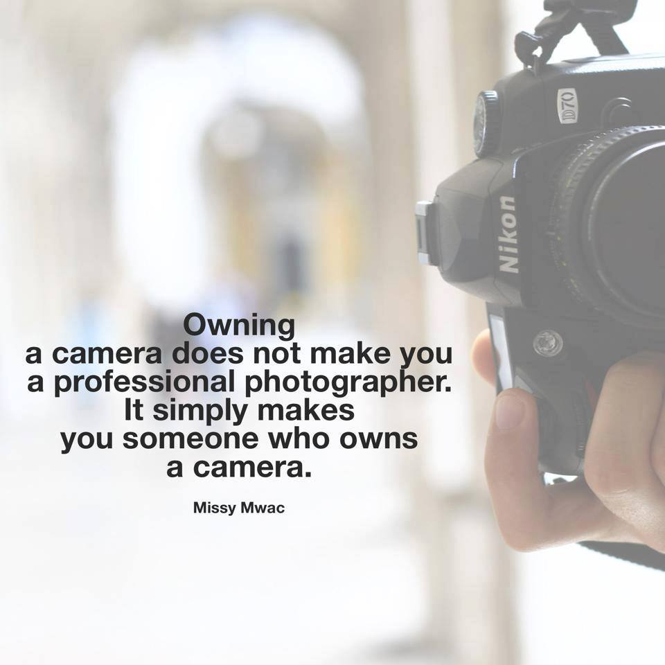 owning a camera